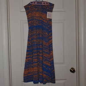 Lularoe Maxi Skirt Size Medium NWT 💙🧡